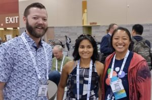 Richard Burns, Celina A. Suarez, and Yasuko Smith at GSA 2019