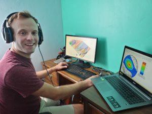Daniel Riddle doing virtual field camp